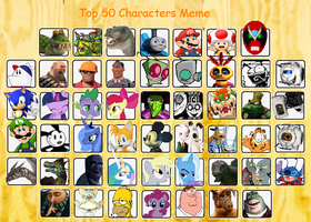 The New Top 50 Character Meme by TAGMAN007