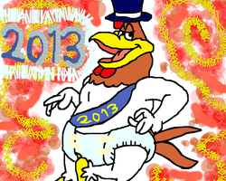 Foghorn Leghorn the Baby New Year by conlimic000