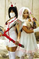 Nurse Akali and Cottontail Teemo!! by m1ndr34d3r