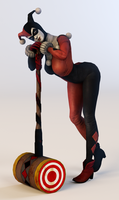 Harley Quinn 3DS Render 2 by x2gon