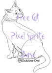 FREE Cat Pixel Sprite Base - Preview by October-Owl