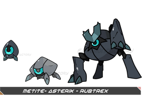 Space Stalagmite Pokemon by harikenn