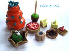 Miniature Food Set A by funkypinkgal