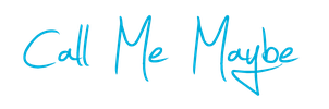 Call Me Maybe LOGO PNG De ''Carly Rae Jepsen'' HD by danperrybluepink