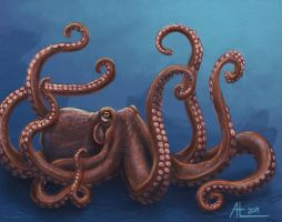 Octopus by bugsandbears