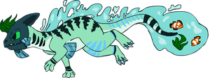 Sea Dragon Adoptable/Design 1# CLOSED by RoeAdopts