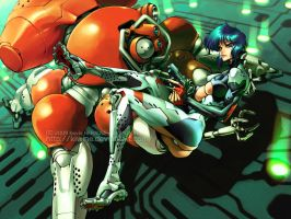 Major KUSANAGI Motoko by kiwine