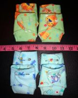 4 teeny boy diaper sets by wiccanwitchiepoo