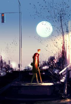 Early moon by PascalCampion