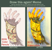 Before And After Dead Space Hand by lionessgirl2007