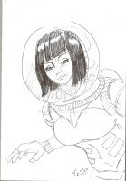 Astronaut sketch by Unoyente