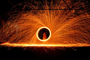 Steel Wool Light Painting by rvanzandt