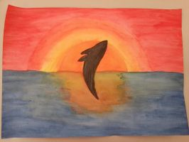 Whale in Sunset by Icedragon300