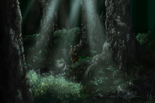 Concept Art :: the forest by ThePhoenixPearl