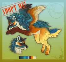 Jewel: Wolf x Kingfisher Adoptable. AUCTION-CLOSED by LeoNoy
