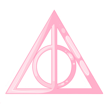 Cute Pink Deathly Hallows ~ by Fetsu-chan