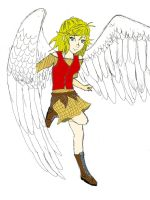 Girl With Wings by FizzyXIII