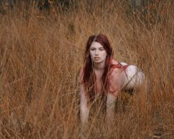 In the Grass- Roswell Ivory by Roswell-Ivory