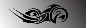 Tribal Motorcycle Logo...... by ogre9999