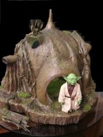 Yoda and His Hut 5 by BLUE-PROMETHEUS