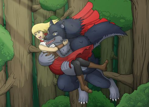 Jumping In the arms of the Big Bad Wolf by Grimgor09