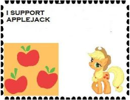 I Support Applejack by Teamscout11