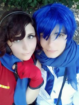 Meiko and Kaito cosplay love vocaloid by GreyChan by GreyxPapp97