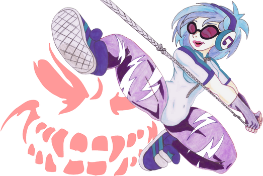 Vinyl Scratch Attack by Jake-the-Goose