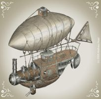 Flying steam boat colored by Mate-Corporation