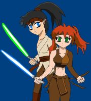 Ayame n Kouga starwars cosplay by lady-warrior