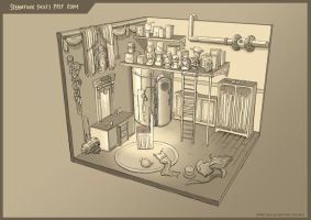 Steampunk Thief's Room by Clotaire