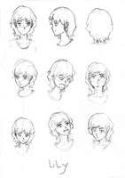 Practicing Head Angles and Emotion: Lily by kaisaki1342