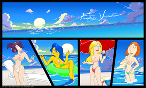 Foxes - Fantasy Vacation by The-Real-Joe-Cool