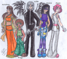 . The Characters . by SailorSilverFalcon03
