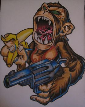 Angry Monkey by inkslinger81