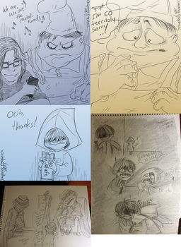 Little Nightmares doodles -13- by Cageyshick05
