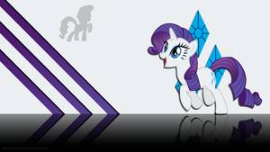 Happy Rarity Wallpaper by Silentmatten