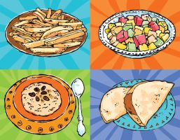Food Illustrations by ChristineAltese