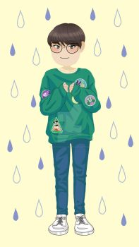 Seventeen - Rainy Day with Wonwoo by notvanessalee