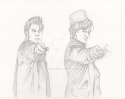 The Doctor(s) pencil by jessehbechtold