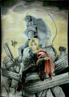 The Elric brothers (final) by ChaoticTendencies