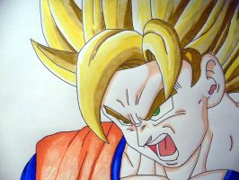 Super Saiyan Goku by DarkGamer2011