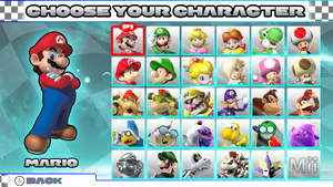 Mario Kart 8: Character Select Screen by Fawfulthegreat64