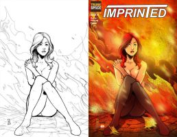 an Interview and Imprinted Issue 1 Cover Colors by DustinEvans
