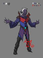 Drow Bard by johntheoddball