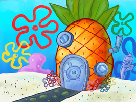 SpongeBob's House by Cartoonkal