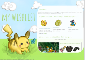 Wishlist Layout by poundfreeze