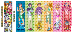 Digimon Bookmarks by Yotsuba-no-Clover