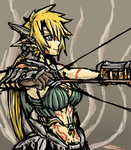 Elven Barbarian Archer by Endless-warr