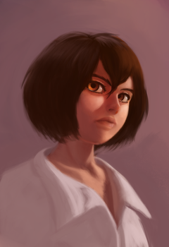 Makoto (practice/sketch) by DarkFlame15